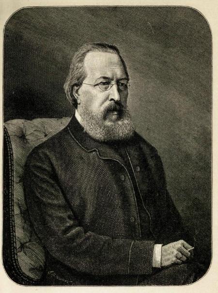Аксаков Иван Сергеевич, гравюра Лаврентия Серякова, 1889 г.